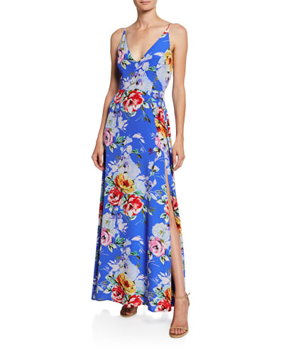 Jasmine Rose-Print Maxi Dress
