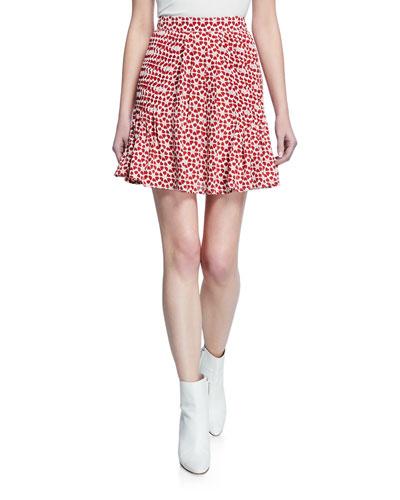 Cassia Printed A-Line Mini Skirt