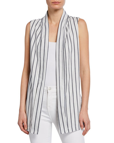 Elantra Striped Duster Vest
