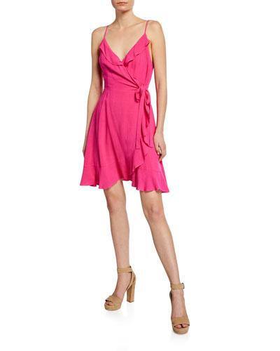 Catana Sleeveless Mini Wrap Dress
