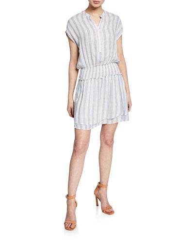 Angelina Striped Smocked Dress