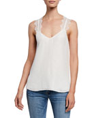 Cami NYC The Chelsea Cloque Cami with Lace