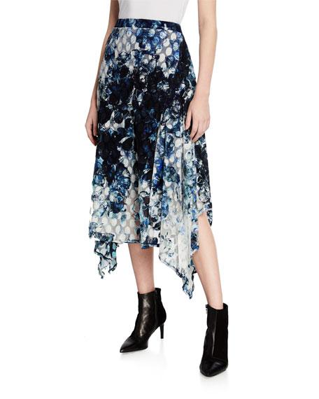 Fuzzi Printed Asymmetric Skirt