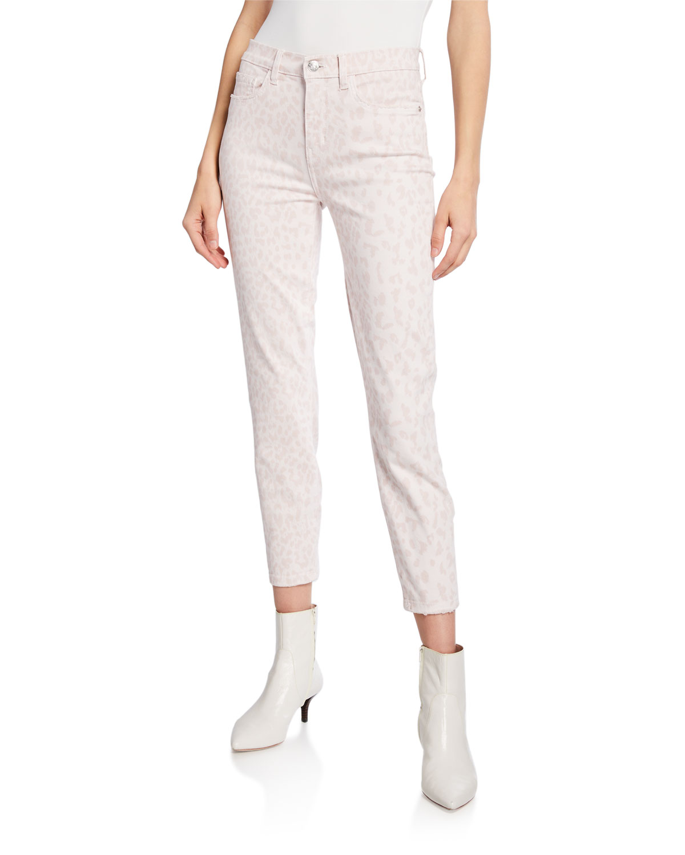 Current Elliott Jeans THE HIGH WAIST STILETTO LEOPARD-PRINT JEANS