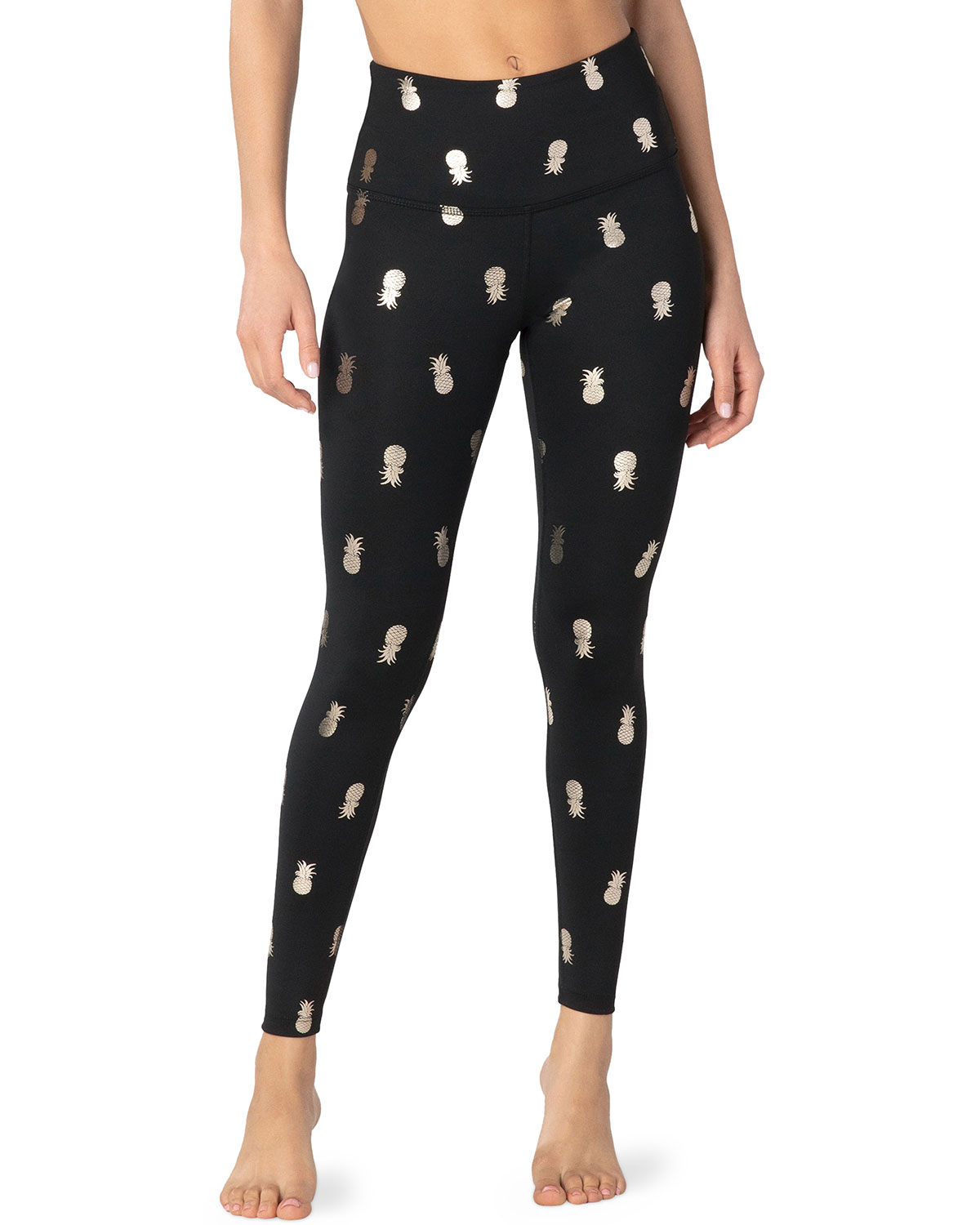 Beyond Yoga Pants PINEAPPLE HIGH-WAIST MIDI LEGGINGS