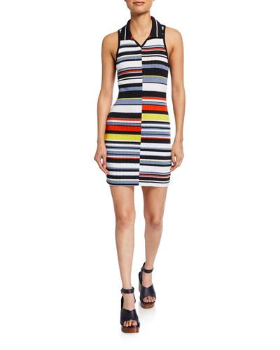 Mason Striped Sleeveless Mini Dress