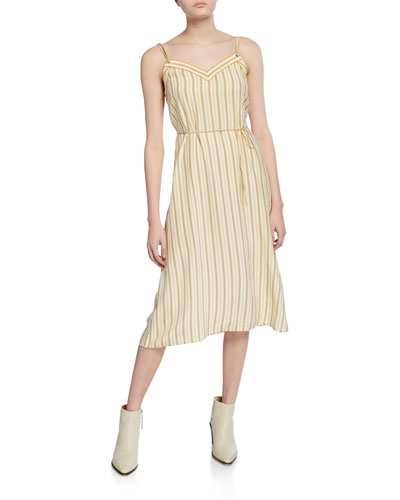 Ilona Striped Midi Dress