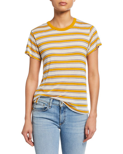 Avery Striped Short-Sleeve Tee