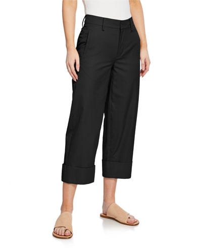 0164224ffb8 Quick Look. Vince · Cuffed Wide-Leg Crop Cotton Pants