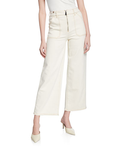 Malia High-Rise Cropped Wide-Leg Jeans