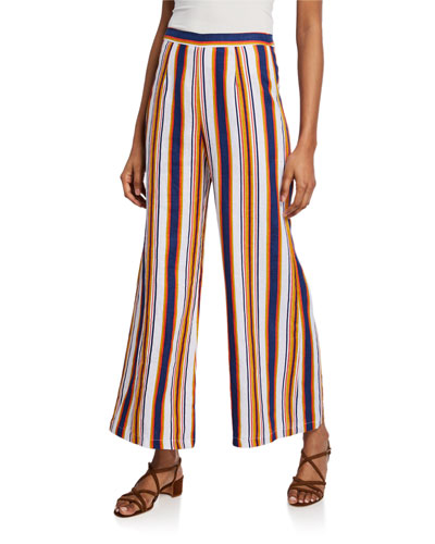 Scelsi Striped Wide-Leg Pants
