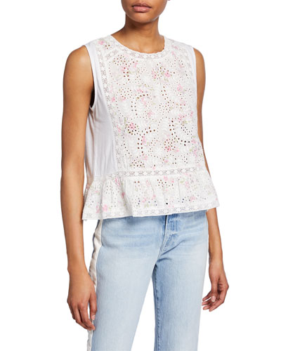 325bbe27095852 Womens Eyelet Top   Neiman Marcus