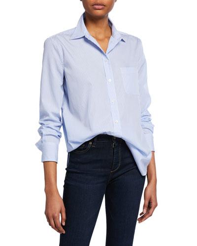Kenton Striped Button-Down Cotton Shirt