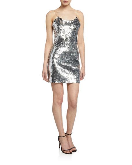Alice + Olivia Sequin Mini Cocktail Dress