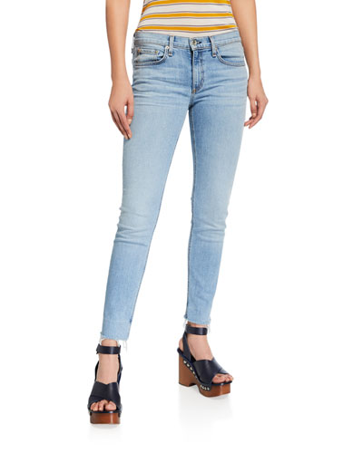 Dre Low-Rise Slim Boyfriend Jeans w/ Raw Hem