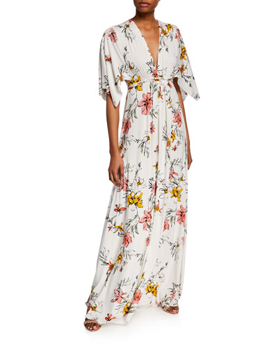 7bd32fa018d9 Quick Look. Rachel Pally · Plus Size Wildflower V-Neck Short-Sleeve Caftan  Dress