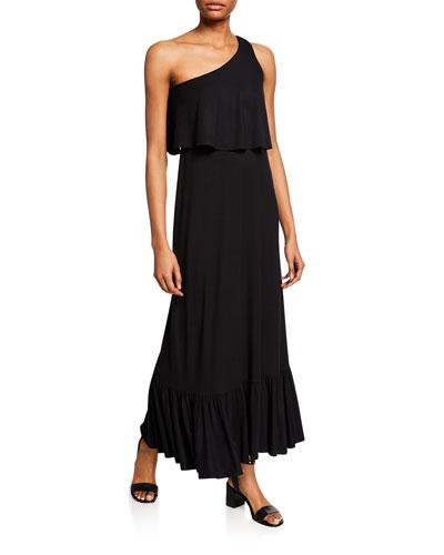 Plus Size Harmony One-Shoulder Sleeveless Maxi Dress