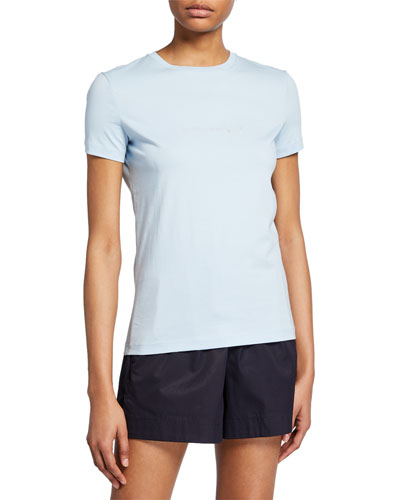 c0bf12307852 Quick Look. Helmut Lang · Alien Short-Sleeve Cotton T-Shirt. Available in  Blue