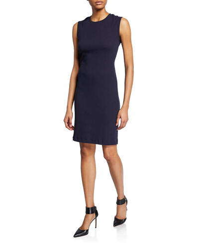 Crewneck Sleeveless Jersey Dress