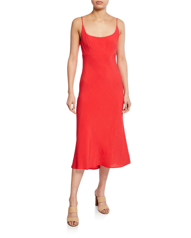Astr Dresses JOAN SCOOP-NECK SLEEVELESS MIDI DRESS