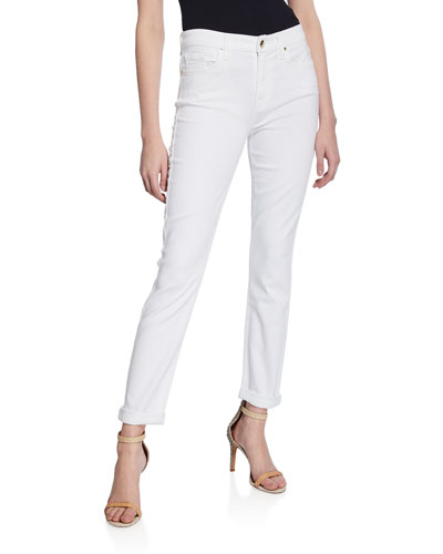 Mid-Rise Ankle Skinny Jeans with Rolled Cuffs