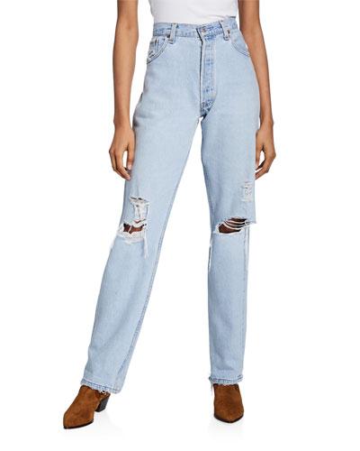 90s Jeans with Destruction