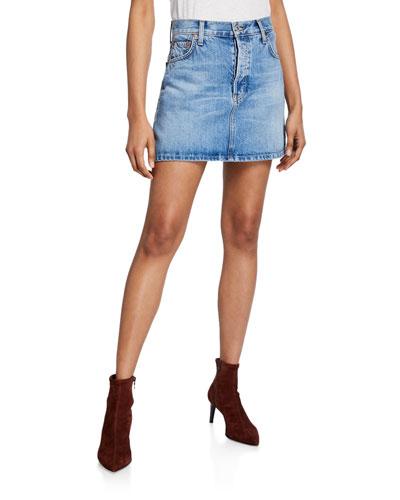 The 60s Denim Mini Skirt