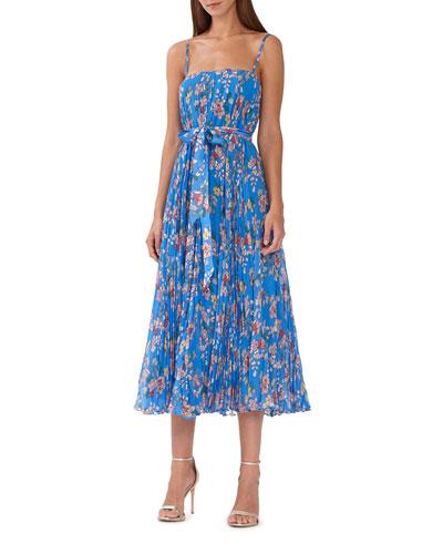 3ada2f61b99 Floral Print Pleated Waist Dress