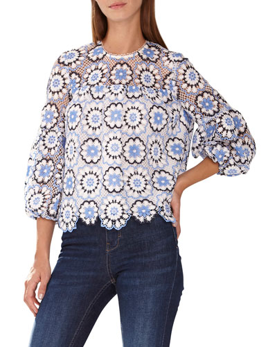 9fa27541177 Lace Shoulder Top   Neiman Marcus