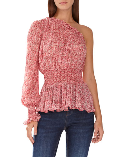 5a83261f1976c8 Long Sleeve Smocked Blouse | Neiman Marcus