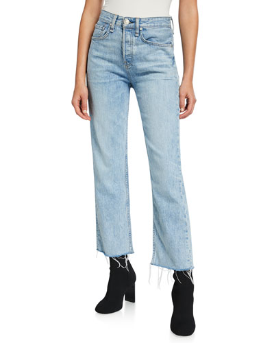 Maya High-Rise Straight-Leg Crop Jeans