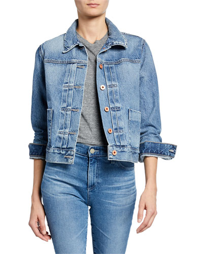 Eliette Cropped Denim Jacket