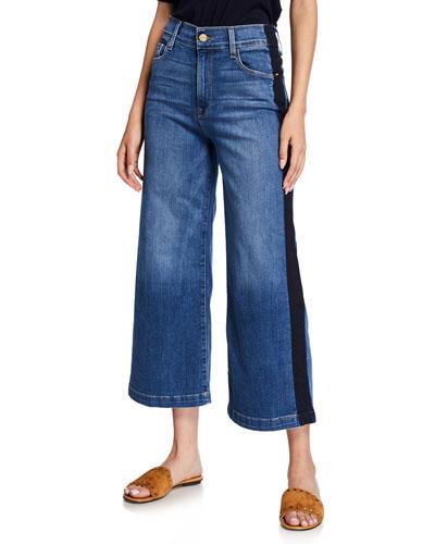 Le Vintage Crop Tuxedo Denim Jeans