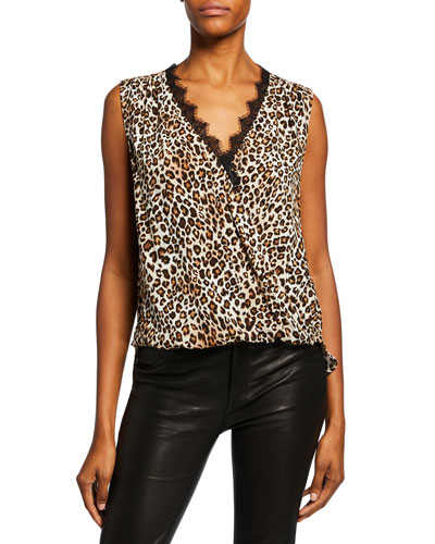 2976dc14c56c3e Quick Look. Velvet · Florence Leopard-Print Sleeveless Top