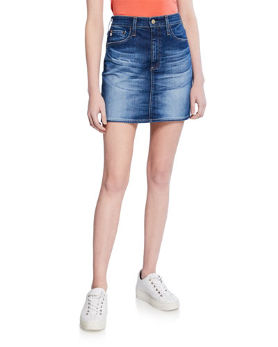 The Vera Denim Short Skirt