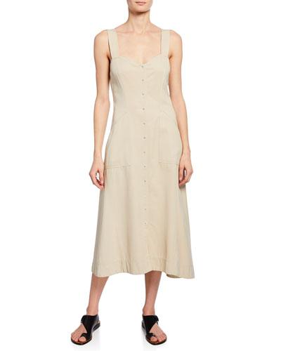 Varelli Sweetheart Sleeveless Midi Dress