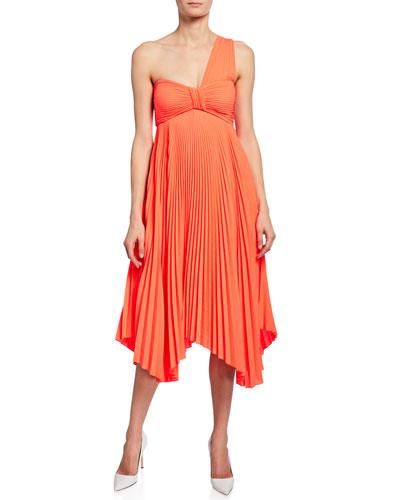 118fc0816dca Quick Look. A.L.C. · Marbury One-Shoulder Pleated Handkerchief Dress