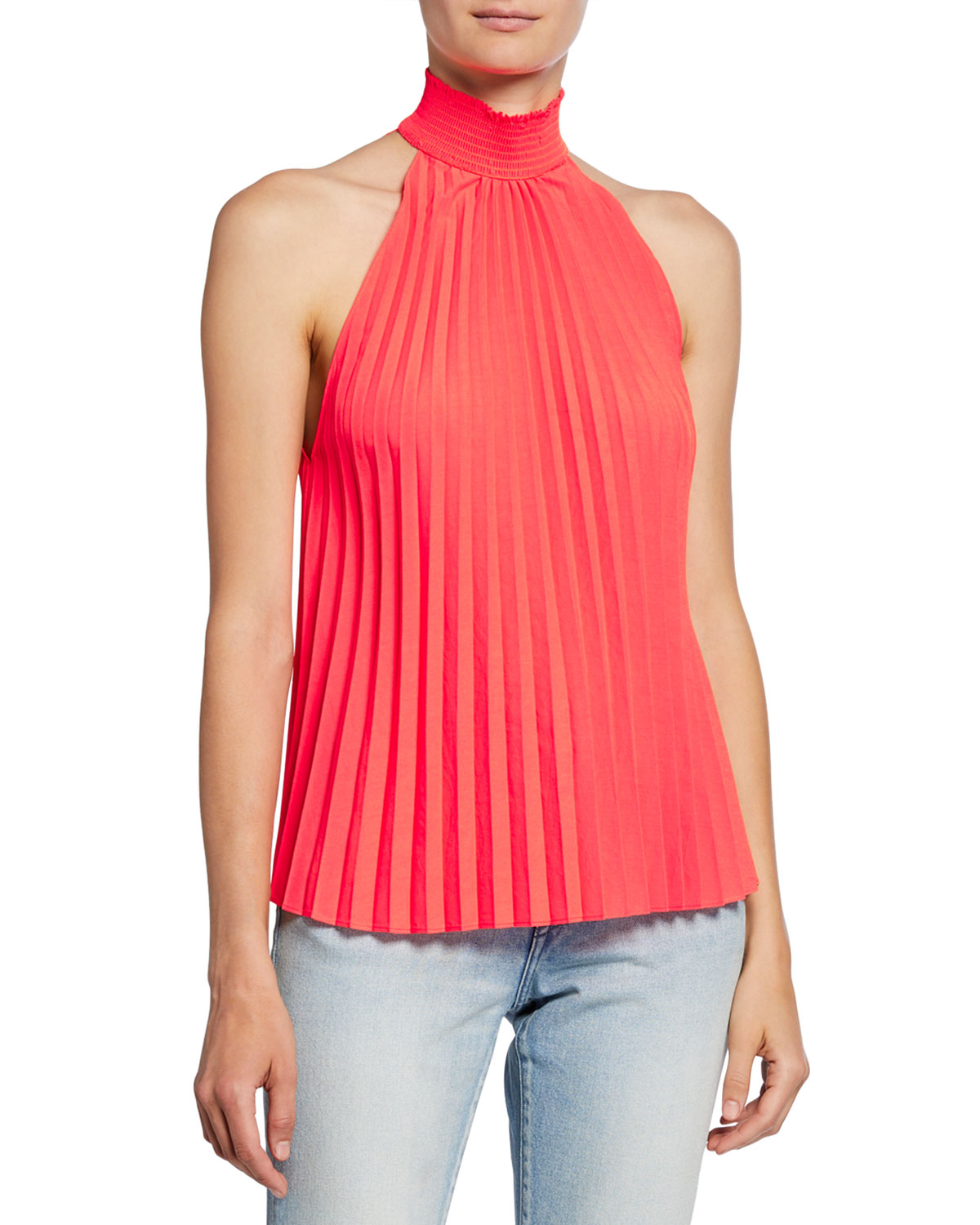A.l.c Tops IMANI HIGH-NECK PLEATED TOP