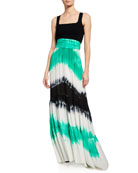 A.L.C. Hopkins Tie-Dye High-Waist Maxi Skirt