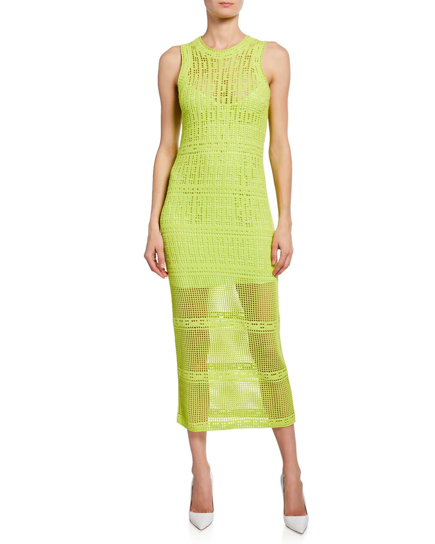 A.l.c Dresses MONAGHAN SLEEVELESS CROCHET DRESS