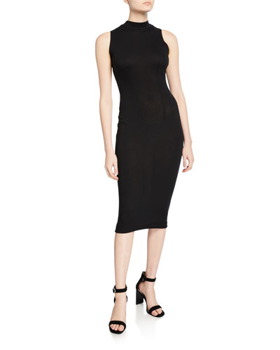 Bandit V-Back Sleeveless Midi Dress