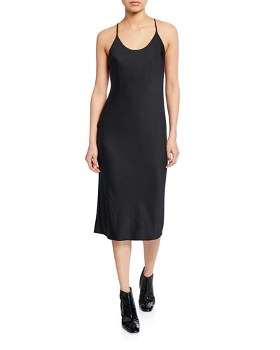 Lightweight Wash & Go Dress with Open Back