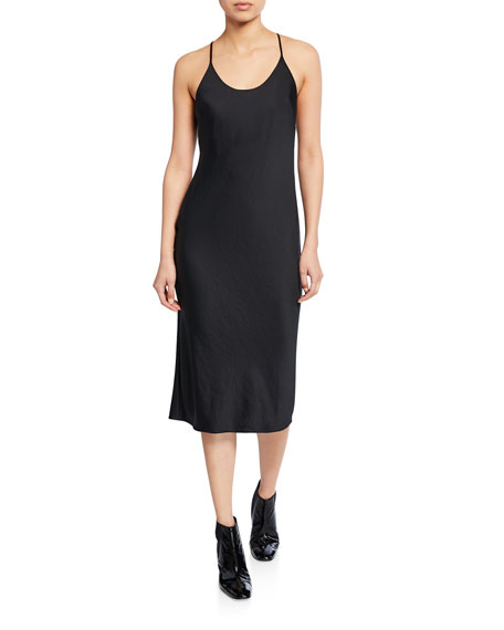 alexanderwang.t Lightweight Wash & Go Dress with Open Back