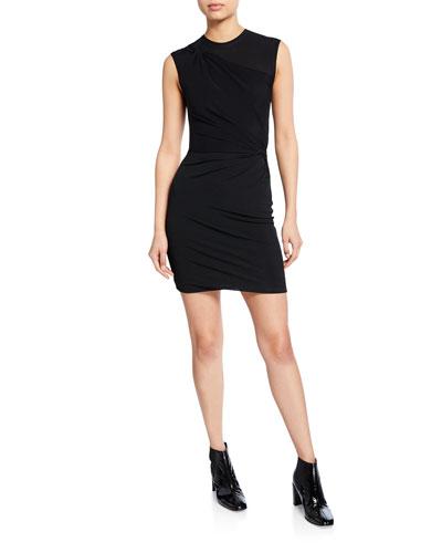 Twisted Crepe Jersey Mini Dress