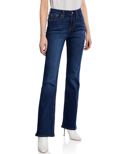 Mid-Rise Slim Boot-Cut Jeans