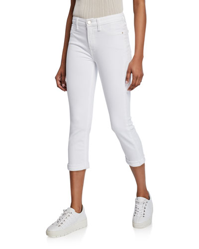 Straight-Leg Rolled Cropped Jeans