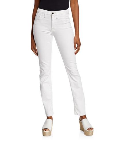 Mid-Rise Slim Straight-Leg Jeans