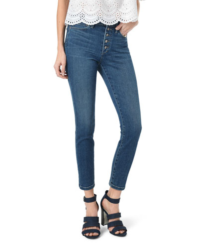 The Charlie Button-Fly Cropped Skinny Jeans