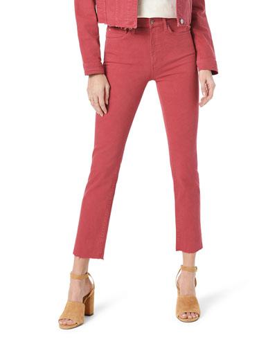 Milla High-Rise Raw-Edge Jeans