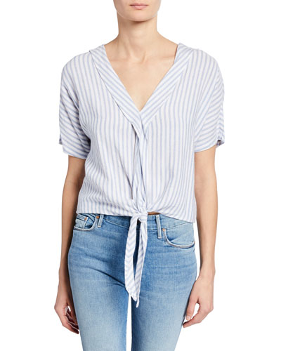 c20f1b1fed35db Quick Look. Rails · June Striped Tie-Front Top